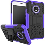 Moto G5 Plus Case,Moto G Plus (5th Generation) Case, DINGXIN [Shockproof] Tough Rugged Dual Layer Protective Case Cover [with