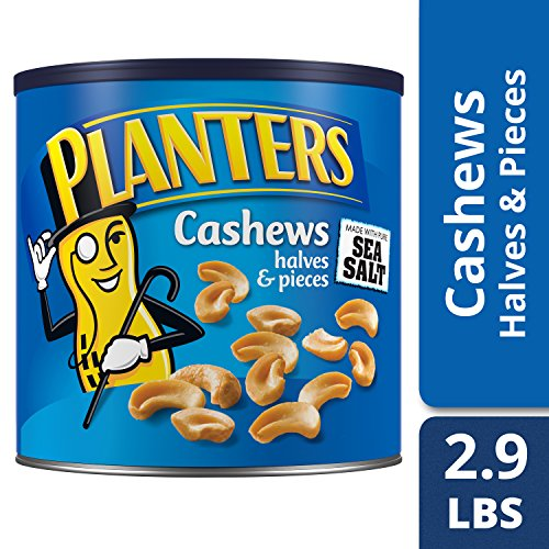Planters Halves & Pieces Salted Cashew (46 oz Canister)