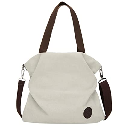 e2d47cbaf2b6 Amazon.com  Clearance ❤ Women Bag JJLIKER Canvas Simple Tote Handbag  Messenger Shoulder Bag  moneymadam
