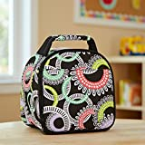 Fit & Fresh Kids' Gabby Insulated Lunch Bag with Exterior Pocket and Full Zip Closure, Versatile School Lunch Box for Girls, Multi Rings