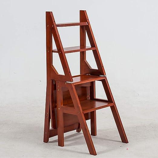 XITERTE Escalera de 4 peldaños Estante de bambú de usos múltiples Plegables Escalera escalonada Escalera para el hogar Biblioteca Cocina Desván (Color : Brown): Amazon.es: Hogar