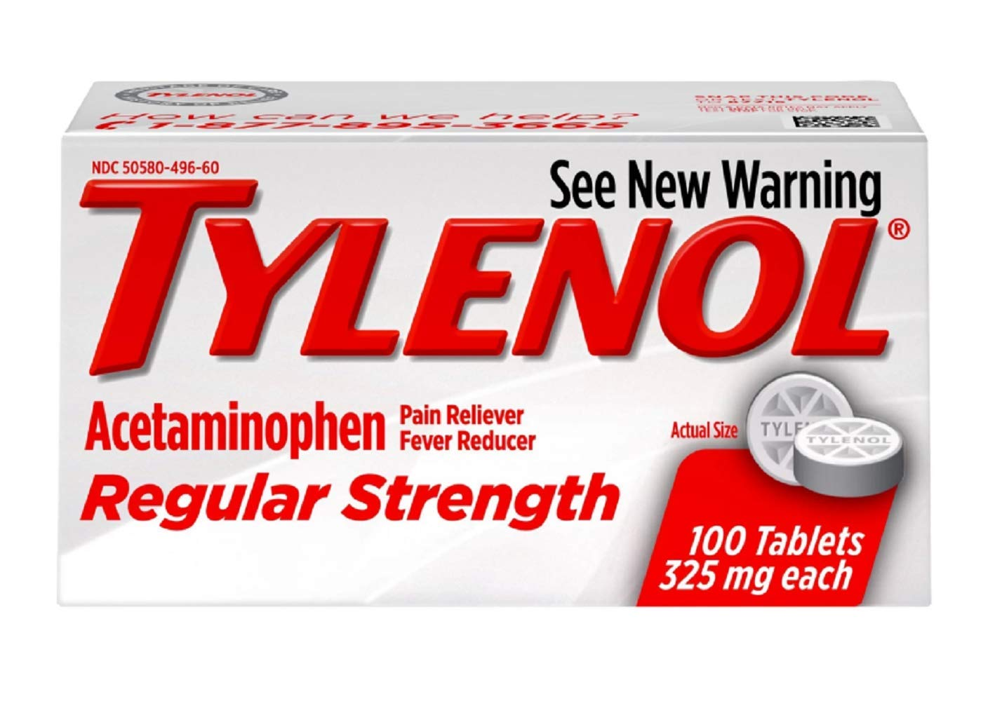 TYLENOL TABS REG/STR 100 6-Pack by Tylenol