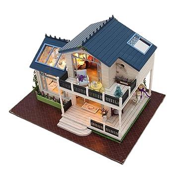 Fenteer 1:24 Maison De Poupée Miniature en Bois - Villa ...