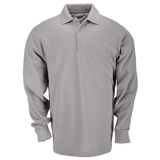 1ea6ff9f1 5.11 Tactical Tall Men's Long-Sleeve Professional Polo, Heather Grey,  2X-Large