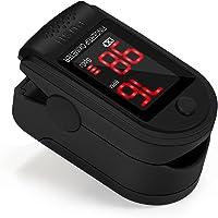 FKANT Oxymètre de Pouls Doigt Matériel Médical avec Affichage LCD, Saturation en Oxygène dans Le Sang(SpO2) et Fréquence du Pouls(PR) Mesure, Moniteur de Fréquence Cardiaque