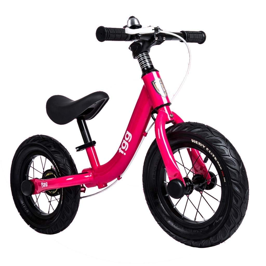 バランスバイク、36センチメートル(14インチ)ランニングバイクペダルなし - ハンドブレーキ付きビッグキッズトレーニング自転車、調節可能なハンドルバーとシート、4 5 6 7 8歳女の子ボーイ誕生日プレゼント ZHAOFENGMING (Color : Pink, Size : 36cm(14 inch)) B07TFHMKGL Pink 36cm(14 inch)