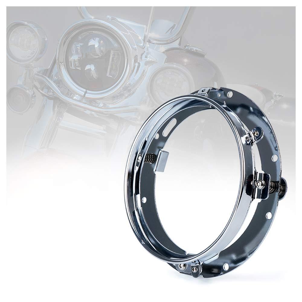 Xprite 7 Inch Black Round Headlight Ring Mounting Bracket for Harley Davidson Projector Headlight Mount HL-R7IN-BRACKET-G2