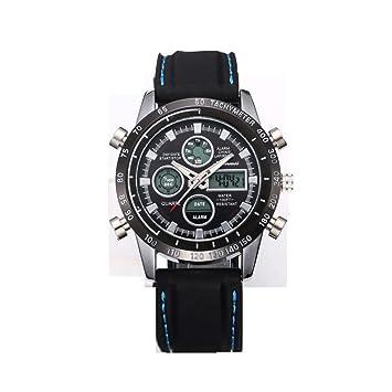 shifenmei Reloj de hombre Best Ordenador podómetro Aventura cuarzo Relojes, hevoiok nuevo Modern unidad doble pantalla Luz Fría resistente al agua Designer ...