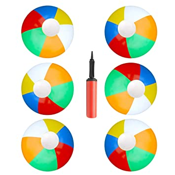 YuChiSX Pelota de Playa Hinchable , Niños inflables Bolas de Playa Rainbow Ball para Piscinas Beach Playing Actividades al Aire Libre de Verano y ...