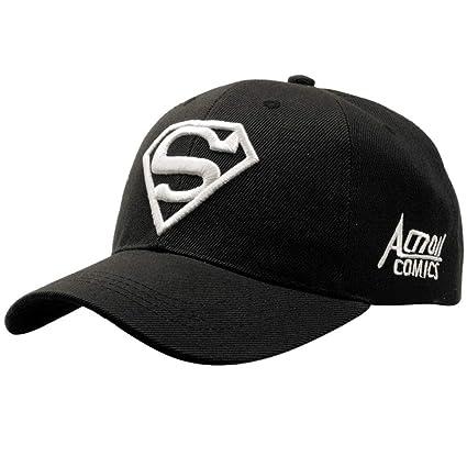 TTXSKX Nueva Letra Superman Cap Casual Gorras De Béisbol Al Aire Libre Hombres Sombreros Gorras Snapback