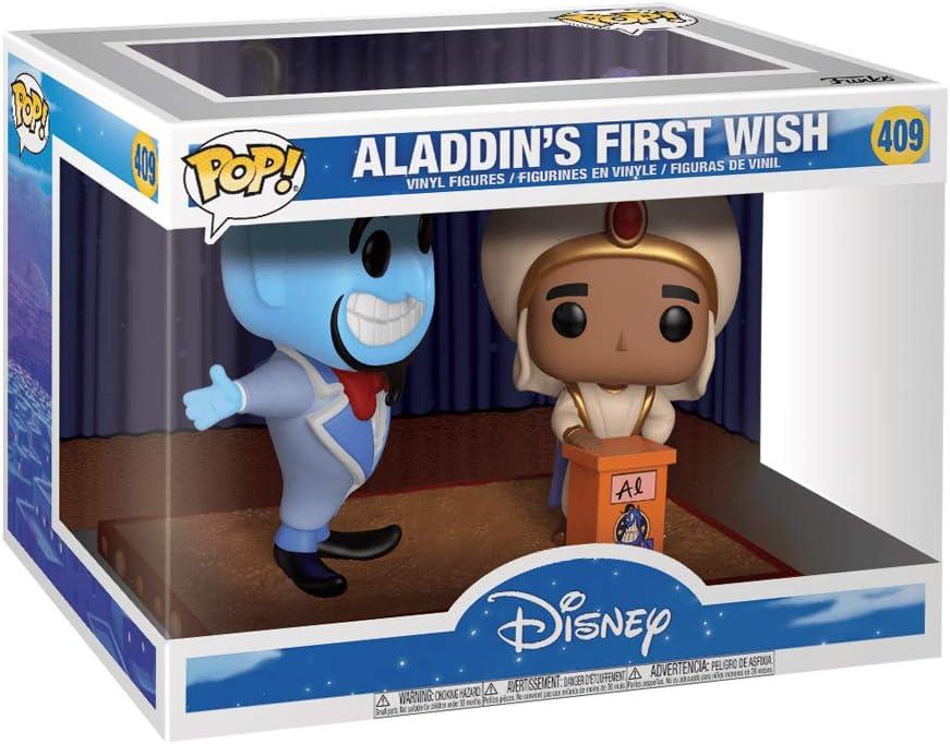 Funko Pop Movie Moment 409 Disney Aladdin 29375 Aladdin/'s First Wish and Genie