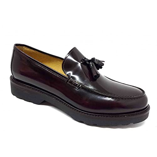 Kletoon - Mocasines de Piel para hombre Morado burdeos Morado Size: 41: Amazon.es: Zapatos y complementos