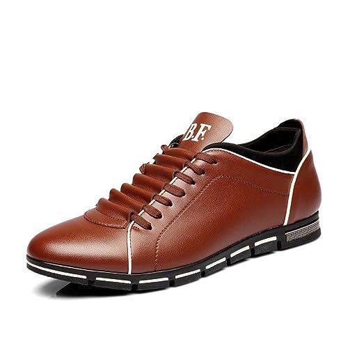 Zapatos de Cordones Hombre Cuero PU Zapatos Transpirable Deportes Zapatillas Negro Marrón Azul Amarillo Rojo 39-50: Amazon.es: Zapatos y complementos