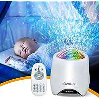 LED Sterlicht Projector, Roterend Sterren & Oceaan Nachtlampje, Muziekspeler Projector met met Bluetooth/Timer…