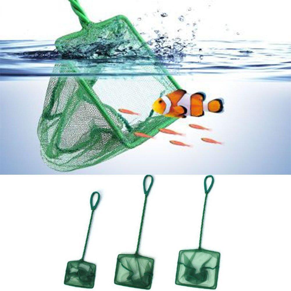 1 pieza de acuario acuario pecera Tank Nets Woopower Nylon pesca Nets Quick Catch peces en acuario tanque con mango largo verde SPSUDKQ18674