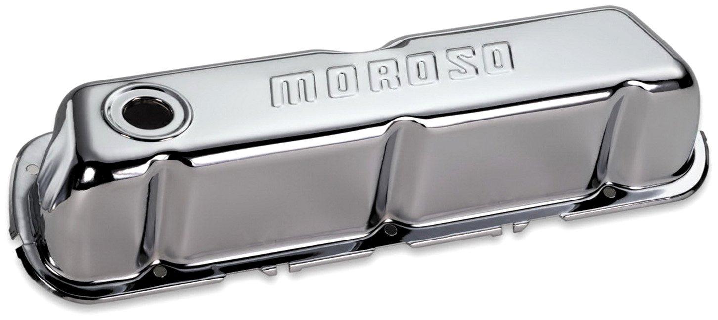 Moroso 68202 Chrome Valve Covers Set of 2