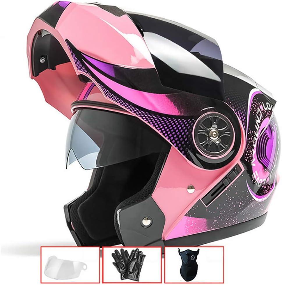 LALEO Ajustable Personalidad Grafiti Casco Moto Modular Integral Casco Moto Abierto, Doble Visera para Hombres y Mujeres, ECE Certificado (54-60cm)