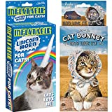 (Set) Archie Mcphee Inflatable Kitty Unicorn Horn & Bonnet - Cats Love It