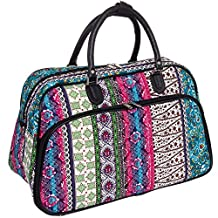 "Wome's 21"" Bohemian Carry On Bag (Black Trim)"
