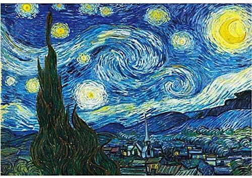 1000個 - - 世界的に有名で星月夜パズル絵画大型29インチ20ジグソーパズルで - ユニークなカット連動個(75.5x50.5cm)