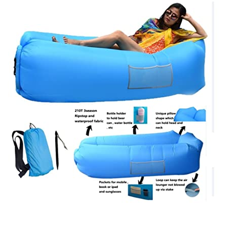 kemxi tech Outdoor Air Sofa Fast Inflatable Laybag Sofá perezoso ...