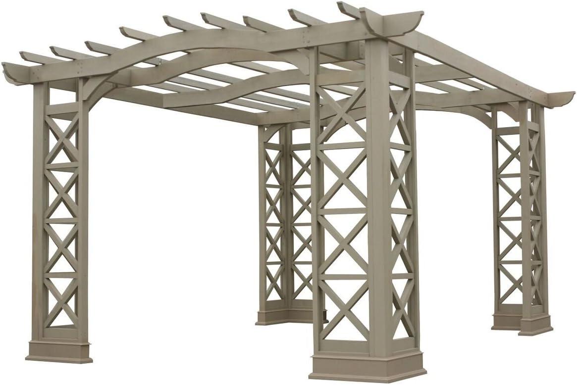 Yardistry Arco Techo pergola, 12 por 14-Feet, Gris: Amazon.es: Jardín