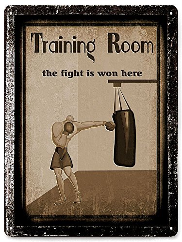Boxing Metal Sign MMA UFC Training Vintage Style Mancave Wall Decor 30x40cm. VioletBoyle