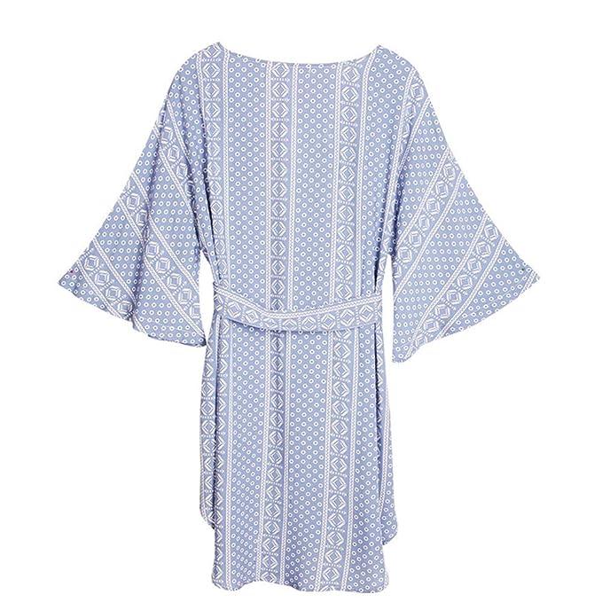 Ropa De Dormir para Mujer Kimono Camisón De Satén Camisa De Gasa De Fibra De Celulosa