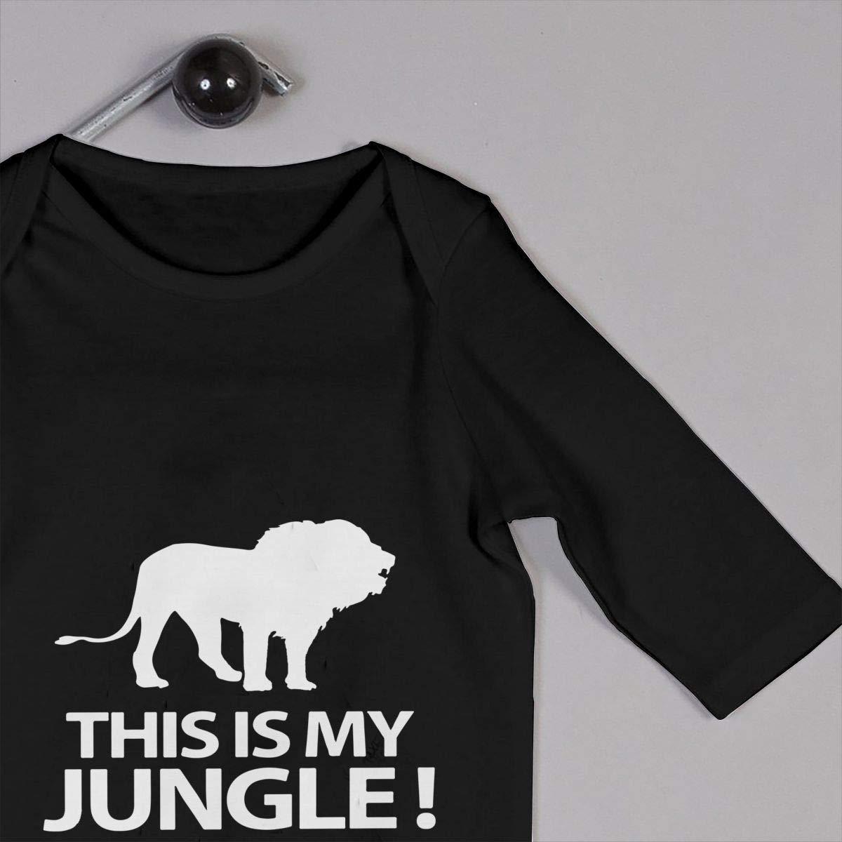Db84UR@5p Infant Baby Girls Boys Long Sleeve Bodysuit Comfortable This is My Jungle Cotton Crawler