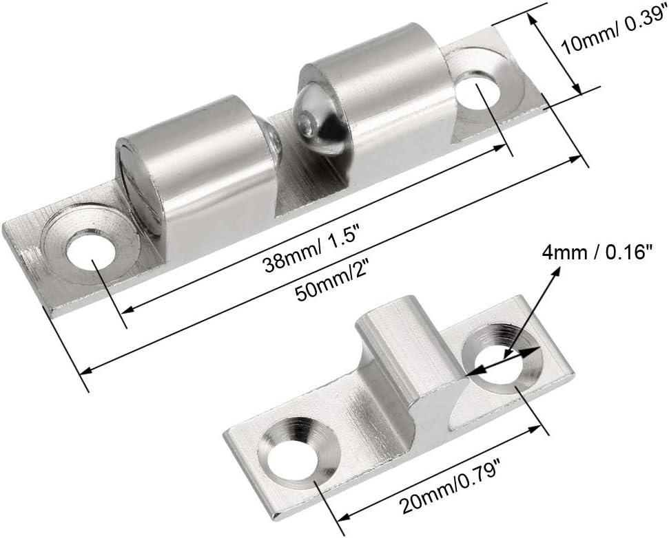 Sourcingmap Cabinet Porte de placard double Loqueteau /à billes type de verrou de la tension