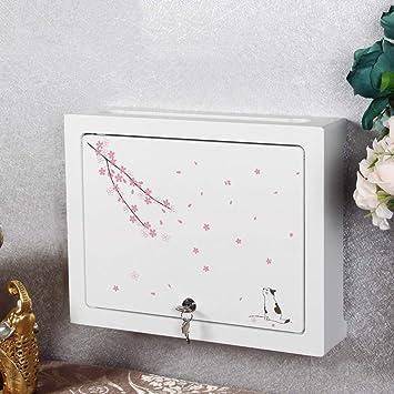 Router de WiFi Set Top Box Estante Soporte de blindaje Caja eléctrica Caja de oclusión Multimedia de zócalo de Pared. Estante de Pared Estante Flotante (Color : White-D): Amazon.es: Electrónica