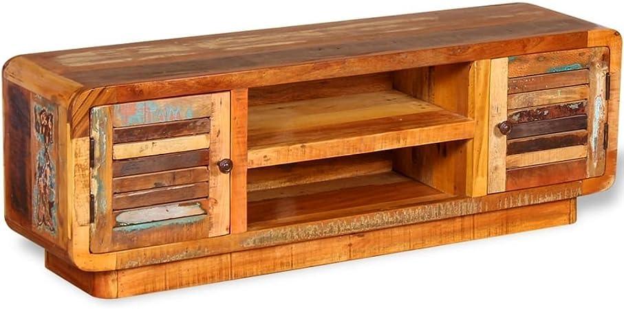 vidaXL - Mueble para televisor (Madera Maciza, 120 x 30 x 40 cm): Amazon.es: Hogar