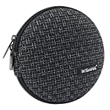 iksnail Portable Round 32 CD Disc Storage Case Bag Heavy Duty CD/DVD Wallet for Car, Home, Office and Travel, Black