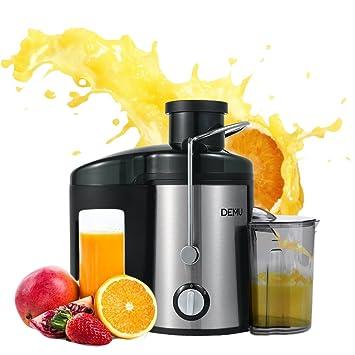 demu Licuadora acero inoxidable con 65 mm apertura Juicer para frutas y verduras talla única plata: Amazon.es: Hogar