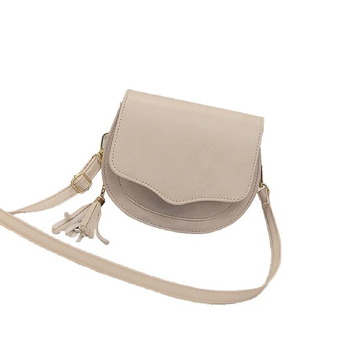 f049c171b397 Egmy Fashion Simple Women Girl's Shoulder Bag Crossbody Bag Tassel ...