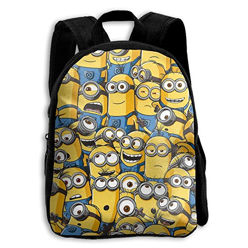 Crazy Popo Baby Child Little Yellow Man Pre School Backpack Bags Backpack Lunch Bag