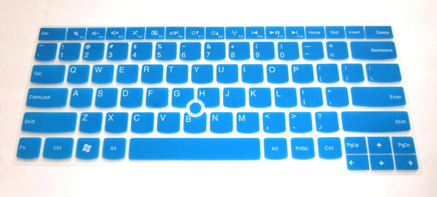 "BingoBuy Semi-Blue Silicone Keyboard Protector Skin Cover for IBM Lenovo ThinkPad X230, E430, E435, T430, T430s, T430u, T430c, T431s, T440, T440s, T440p, T530, L440, W530, L530 (if your ""enter"" key looks like ""7"", our skin can't fit) with BingoBuy Card Case for Credit, Bank, ID Card"