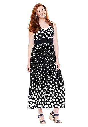 Black Plus Size Petite Maxi Dresses