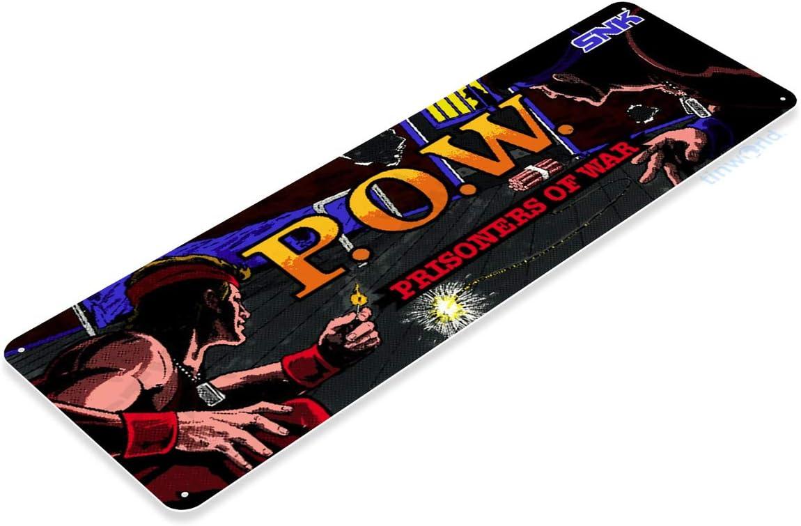 Arcade Game Room Marquee Art Console POW Metal Décor B033 TIN SIGN P.O.W