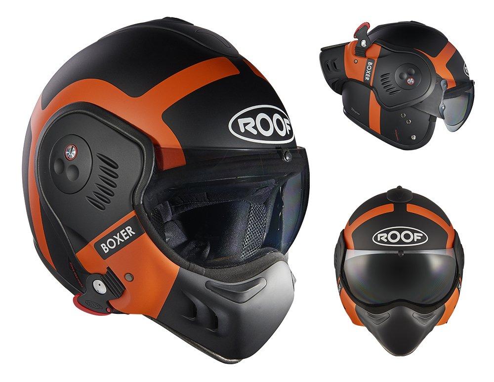 Bond Matt Orange Size M ROOF Helmet Boxer V8