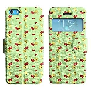 LEOCASE Estrellas Y Cerezas Funda Carcasa Cuero Tapa Case Para Apple iPhone 5C No.1000361