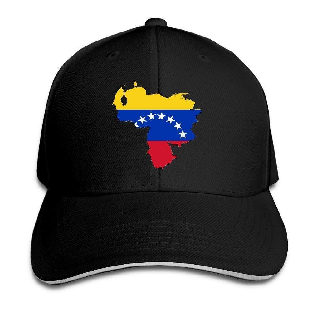 Bgejkos Mapa de la Bandera de Venezuela Algod/ón S/ándwich para Adultos Gorra de Pico Sombrero Deportivo Regalo QW409