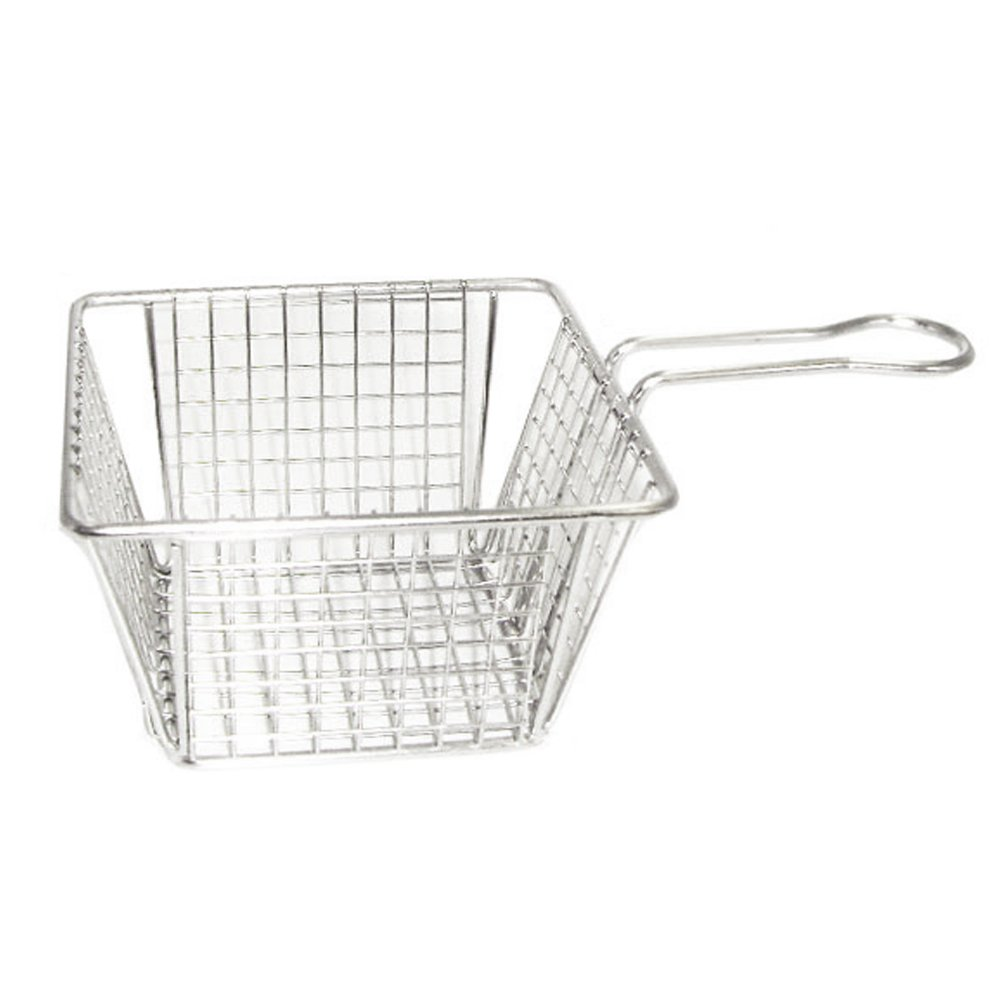 Small Fried Food Basket Stainless Steel E thick gridding