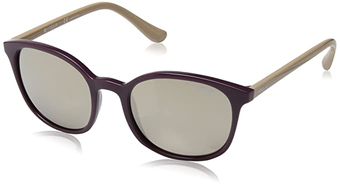 0c9e4364ffeb8 Image Unavailable. Image not available for. Color  VOGUE Women s Injected  Woman Non-Polarized Iridium Square Sunglasses ...