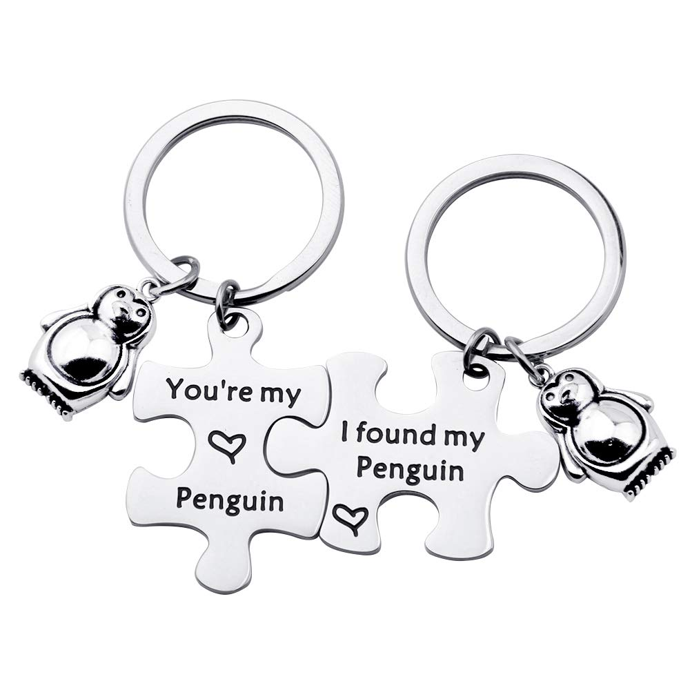 TGBJE You're My Penguin,I Found My Penguin Keychain Couple Puzzle Keychain Wedding Gift (Penguin Keychain Set)