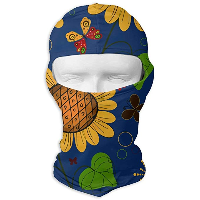 be94e87d1123d Giinly Sunflower Butterfly Pattern Outdoor Cycling Ski Motorcycle ...