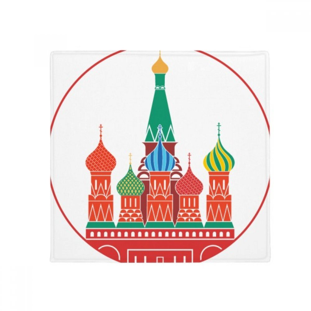 DIYthinker Cathedral Buiding Moscow Church Anti-Slip Floor Pet Mat Square Home Kitchen Door 80Cm Gift