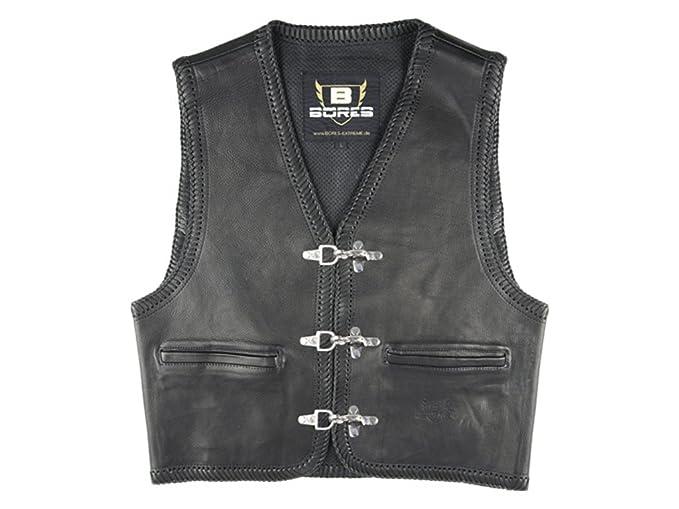 Bores sunride 1 Rinder Chaleco de piel, interior bolsillos, negro, tamaño 3 x l: Amazon.es: Coche y moto