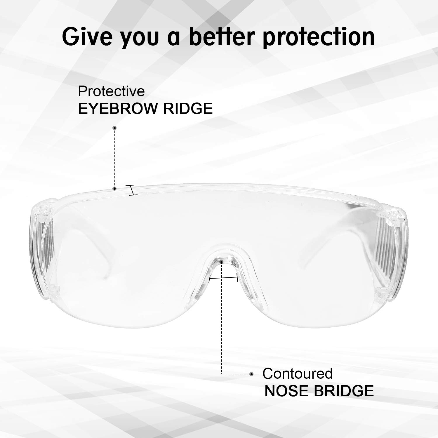 Men Women Upgraded version-1 Piece ZHIKE Clear Anti-Fog and Anti-Scratch Reduction Goggle for Work and Sport Lunettes de s/écurit/é