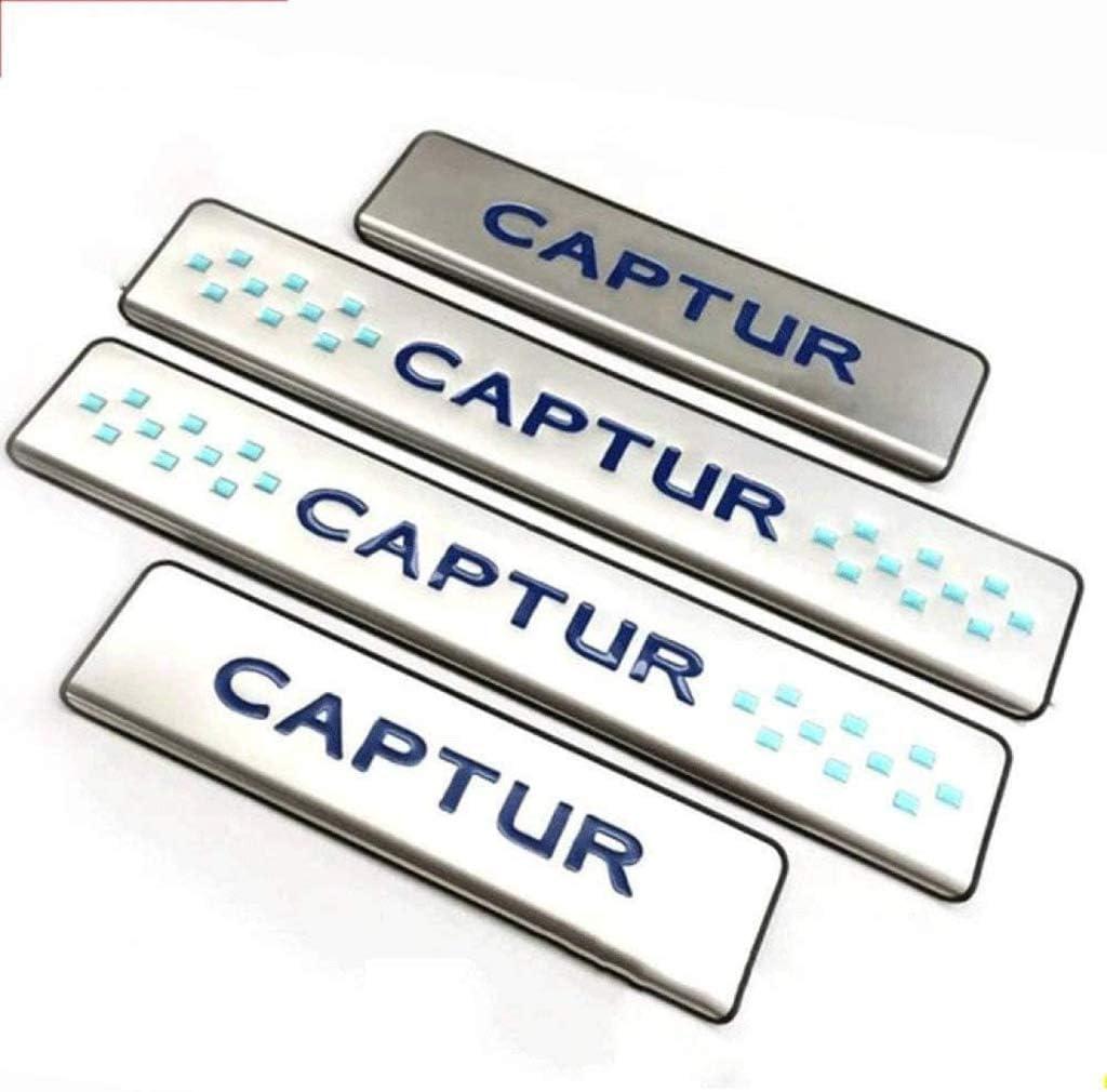Car Protection Barres P/édale Autocollant Styling Accessoire YCGLX 4Pcs pour Renault Captur 2015-2019 Voiture Seuil Porte Acier Inoxydable